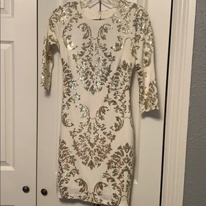 white sequin dress good condition only used once
